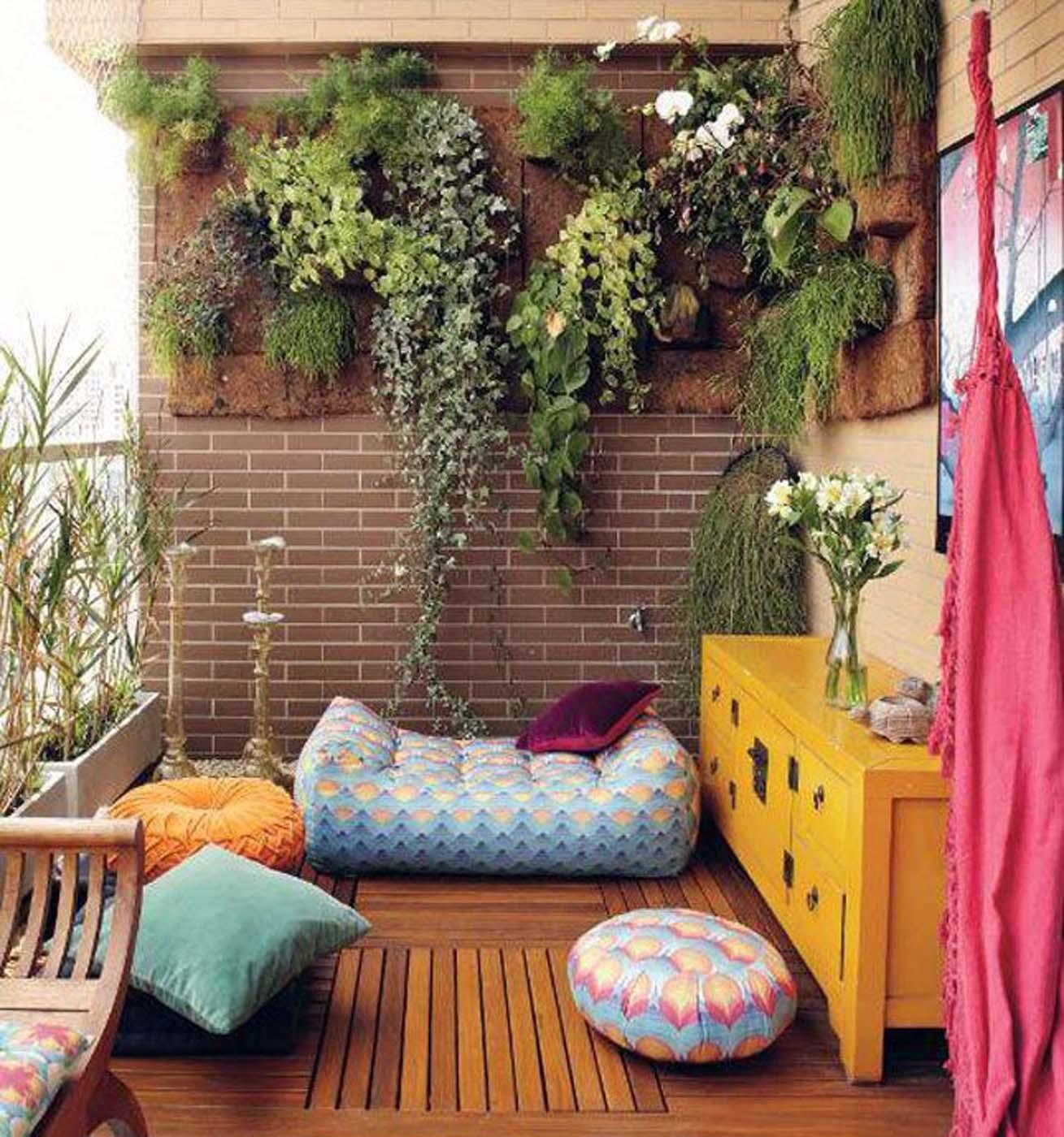 Mur Végétal Extérieur Palette femina | 20 inspirations de balcons et terrasses