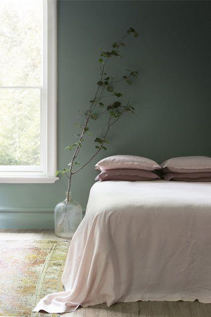 Pinterest Décoration Inspiration Vert De Gris Sauge Chambre à Coucher