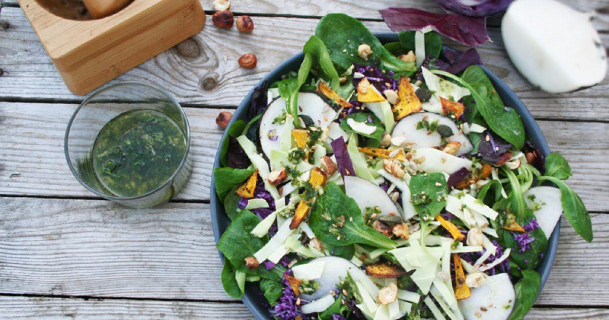 femina recettes de saison 20 salades d automne saines. Black Bedroom Furniture Sets. Home Design Ideas