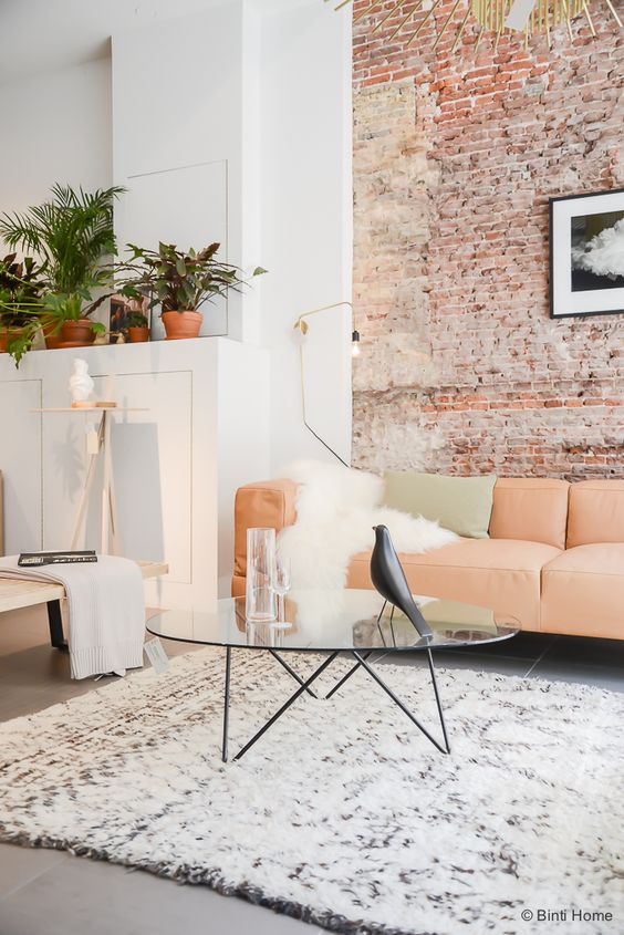 Appartement Pinterest Mur Brique Blanc Salon