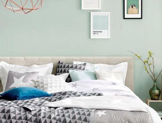 Pinterest Décoration Inspiration Vert De Gris Sauge Chambre à Coucher Pastel