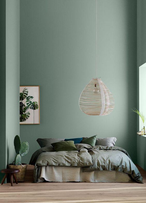 Pinterest Décoration Inspiration Vert De Gris Sauge Chambre à Coucher Déco  Minimale